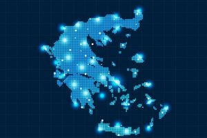 pixel Greece map